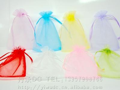 11*16CM中号单色珍珠纱喜糖袋糖果袋巧克力袋干花袋颜色随机不选色,定做颜色可自选,100个一包opp包装