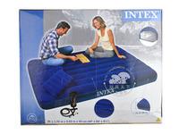 深蓝灯芯绒空气床套装INTEX68765床垫