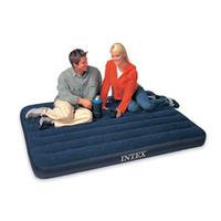 深蓝灯芯绒双人充气床 气垫床 植绒床 INTEX68758