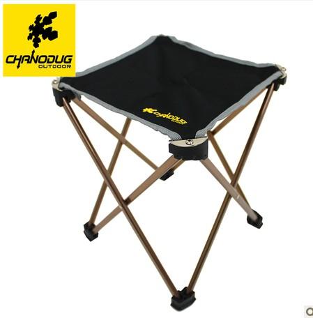 夏诺多吉 超轻四方全折叠铝合金钓鱼凳 便携马扎凳子户外椅子