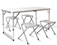 户外折叠桌子 折叠桌椅摆摊桌便携式铝合金桌餐桌野营桌培训桌子
