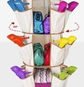 360度旋转鞋袋 收纳鞋袋