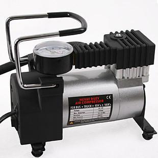 汽车金属车用充气泵打气泵12V车载轮胎冲气泵打气机单缸充气泵