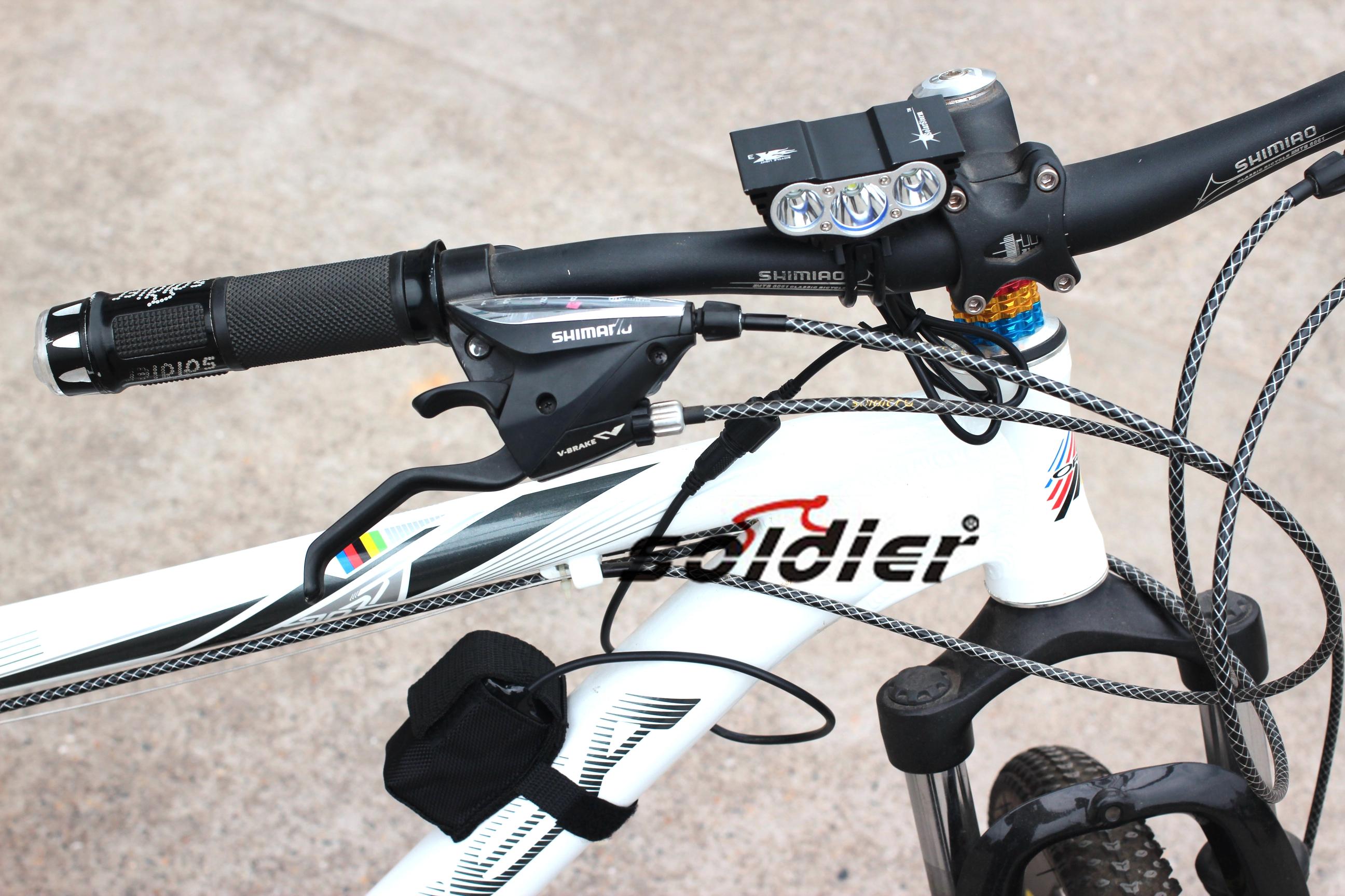 3T6自行车灯3U2 L2四档x3猫头鹰单车前灯套装