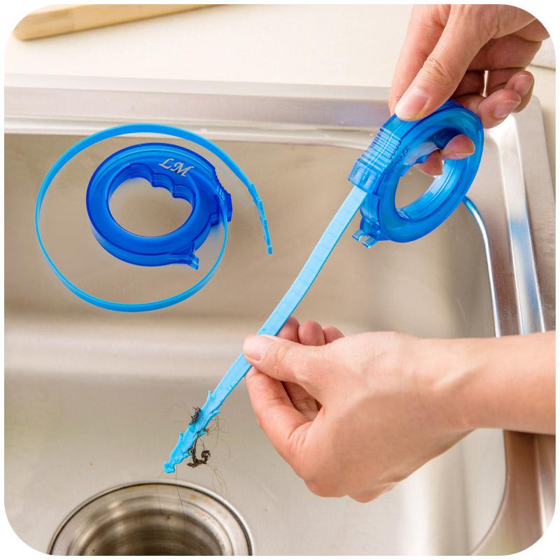 可伸缩通下水道毛发清理器水槽防堵清洁钩马桶疏通