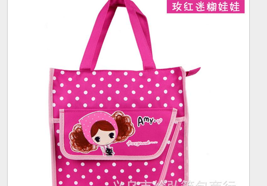 义乌好货 卡通环保购物包 韩版 帆布单肩手提包