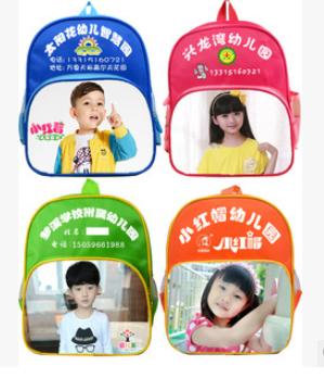 订做印刷幼儿园书包 儿童双肩书包印字广告书包定做批发可印照片