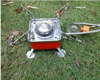 小方炉 户外野营四方炉头气炉 便携式掌心炉具,接管卡口四方炉