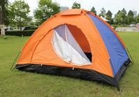 帐篷户外双人单层帐篷非自动情侣野营帐篷3-4人沙滩露营休闲帐