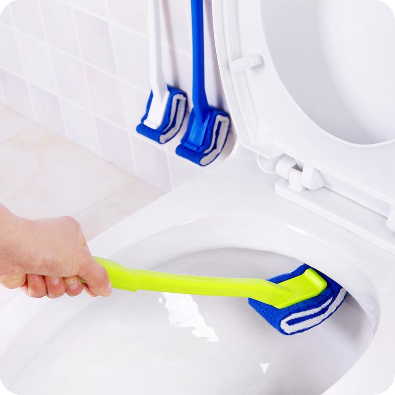 日式免洗剂马桶刷子软毛刷塑料长柄卫生间洁厕刷马桶清洁刷