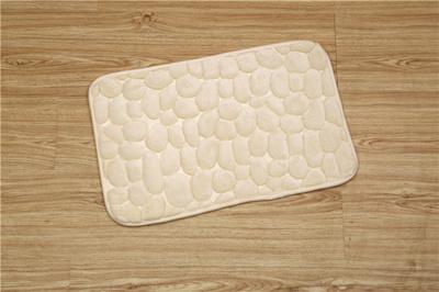 超柔地垫 法兰绒压花脚垫门口卧室厨房浴室吸水防滑垫外贸