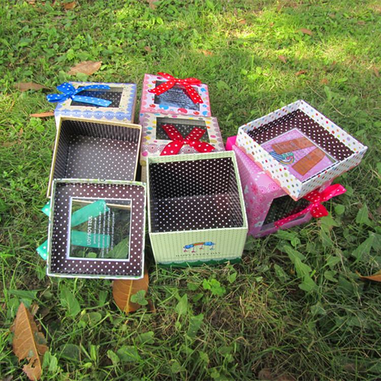 韩版正方形苹果盒创意正方形礼盒 圣诞节礼品盒F26