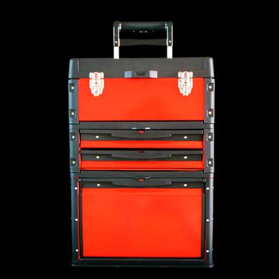 工具箱 组合式拉杆塑铁工具箱 多功能五金工具箱 拉杆工具