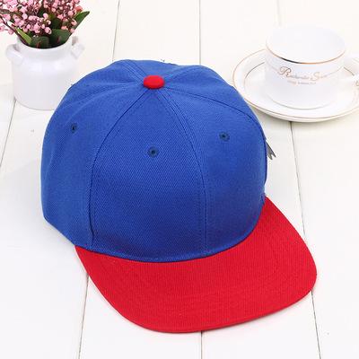 韩国光身纯色平沿帽男女士光板棒球帽hiphop街舞潮嘻哈帽子