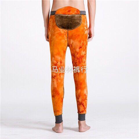 2020款男士加绒加厚保暖裤中老年冬棉裤内加护腰护膝贴片打底