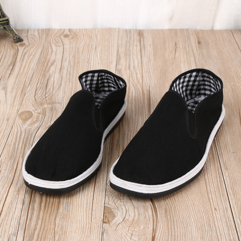 义乌好货 老北京布鞋手工千层底布鞋 黑色中老年爸爸休闲鞋