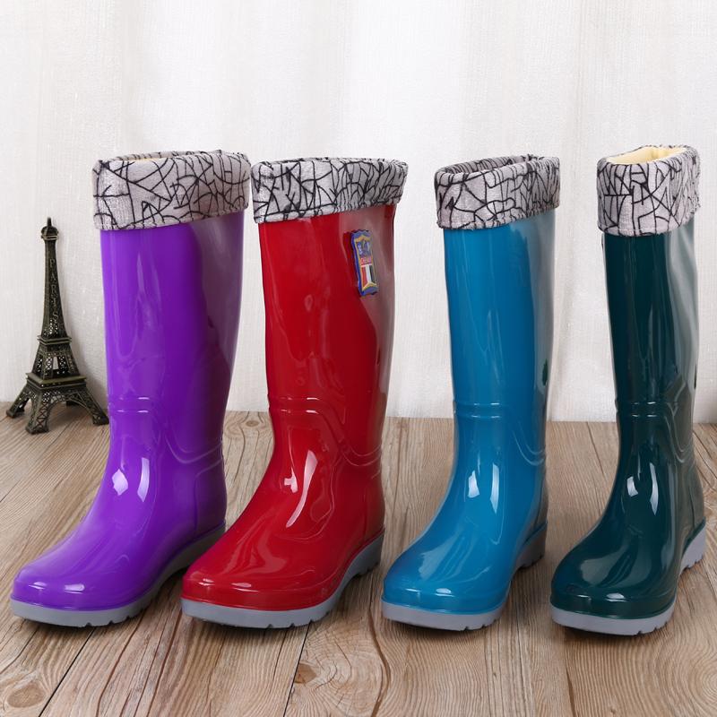 义乌好货 纯色光面高筒雨靴防水鞋 劳保工作鞋 钓鱼靴 通用