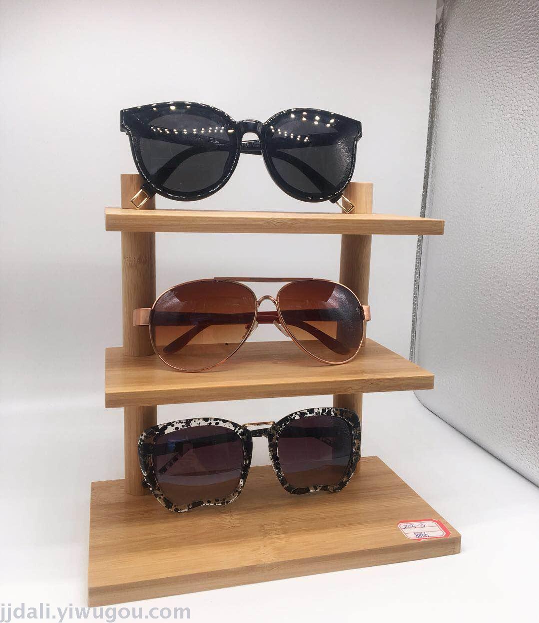 义乌好货 眼镜展示架 竹子制作眼镜摆放架子