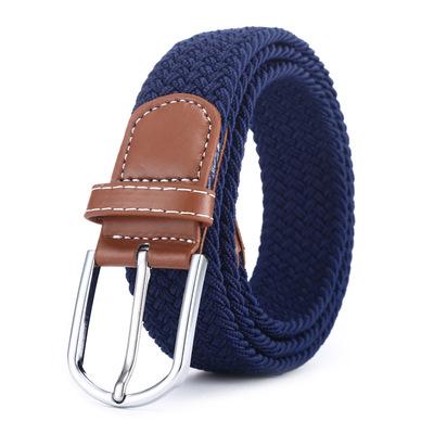 厂家直销男女腰带编织皮带弹力帆布针扣皮带百搭通用休闲一件代发