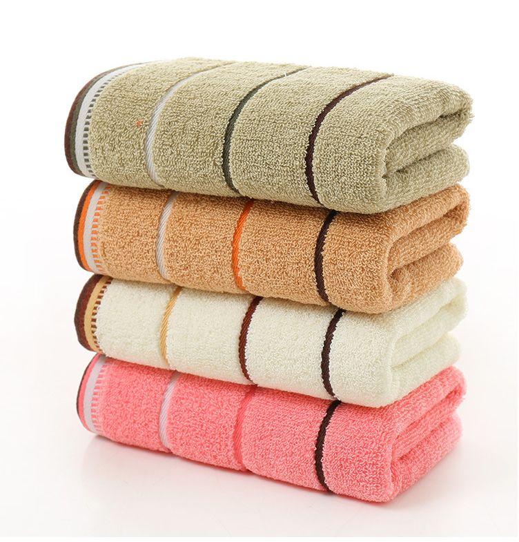 婷龙极限三段纯棉吸水送礼毛巾可组套巾礼品广告定制6703横条 33*74cm