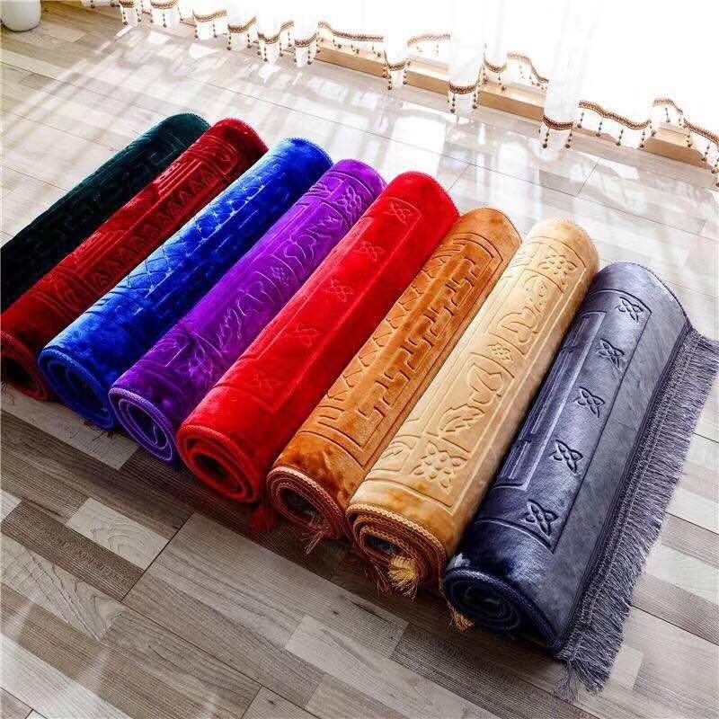 家丽百合床上用品穆斯林素色压花朝拜毯礼拜毯地毯