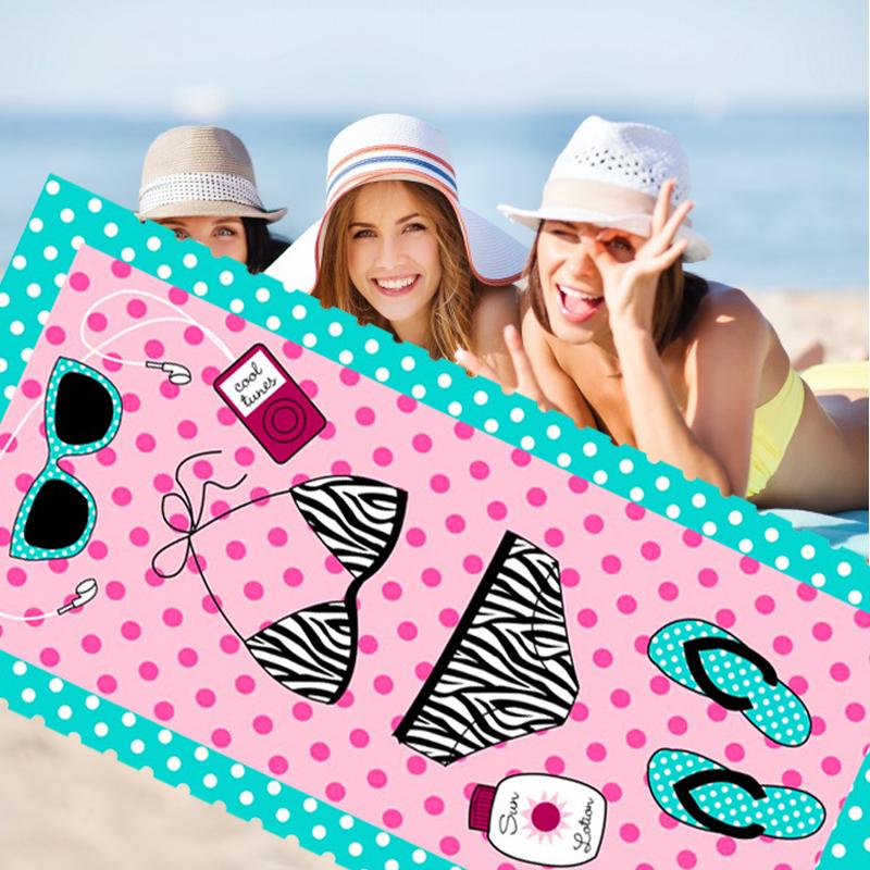 超细纤维海滩巾健身旅游多功能可定制