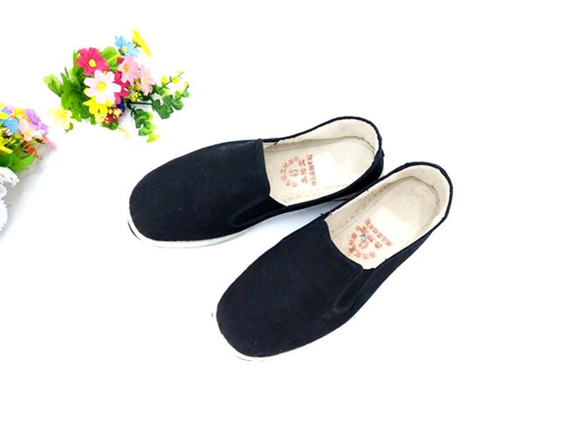 义乌好货 奥陆宝布鞋老北京布鞋橡胶底黑棉布鞋 工作鞋