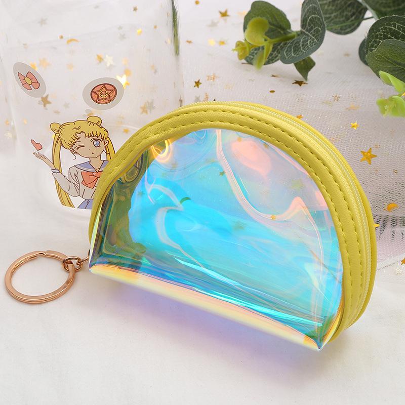 新款创意零钱包 PVC幻彩个性 钥匙扣零钱化妆收纳包女式可爱钱包
