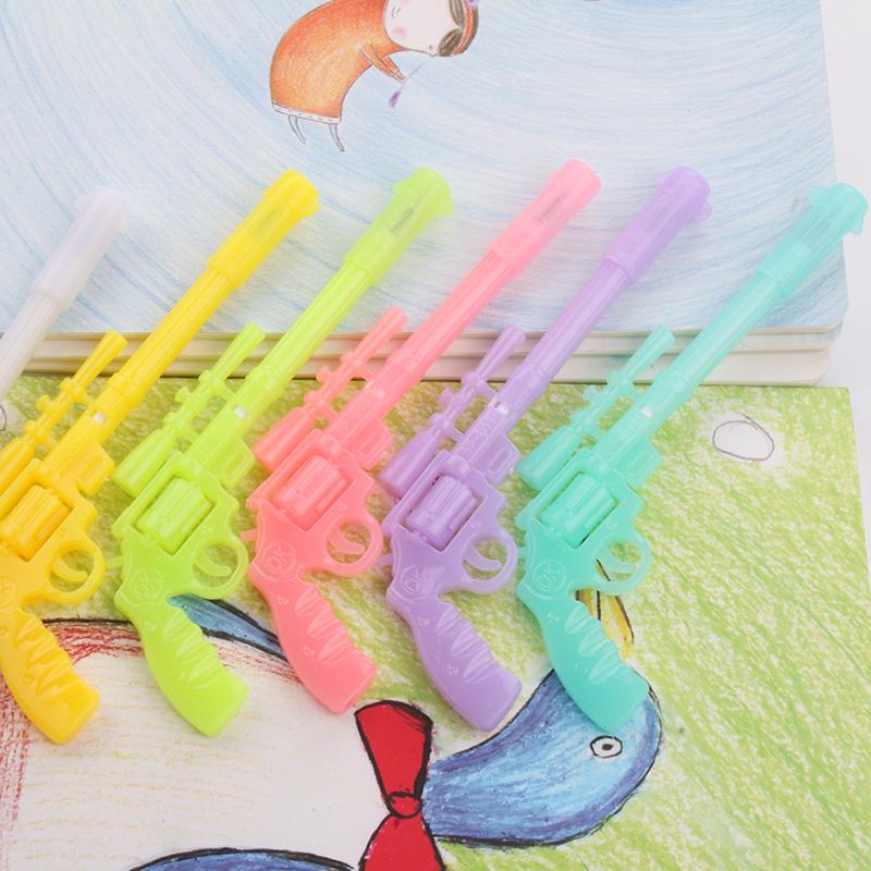 创意中性笔 卡通文具 夜光枪造型水笔学生学习用品奖品礼物