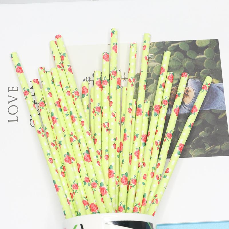 彩色纸吸管一次性创意纸质细吸管果汁奶茶吸管家用环保