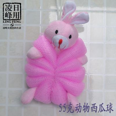 韩版可爱动物公仔沐浴球 浴室洗澡家居浴球 优质浴花 55克大浴花