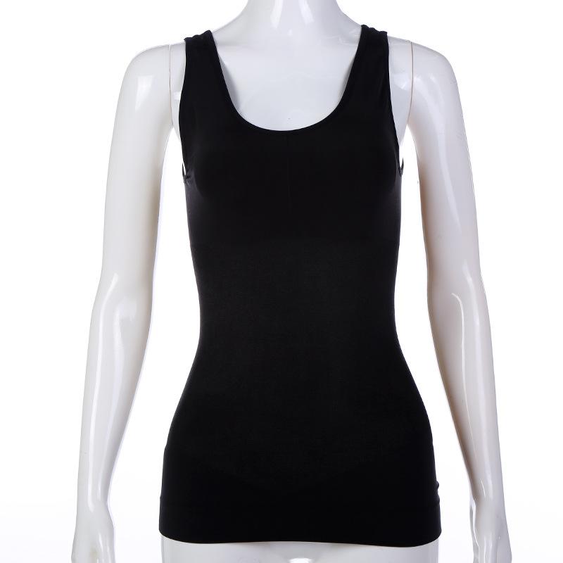 春夏新款女士背心 运动瑜伽锦纶背心加长版贴身打底塑身背心 女