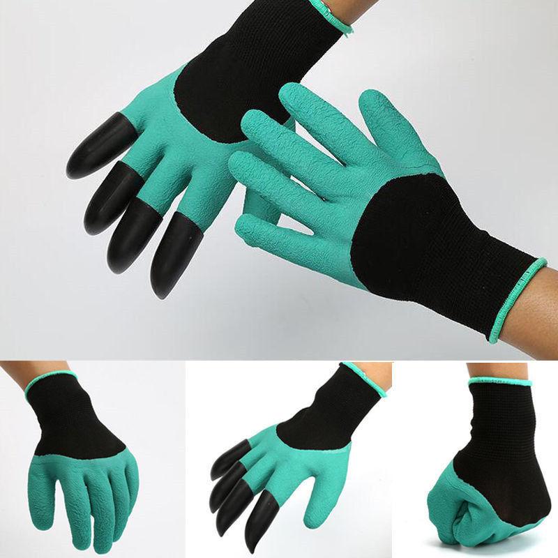 花园Garden园林种花手套可挖土手套户外浸胶防护种植手套