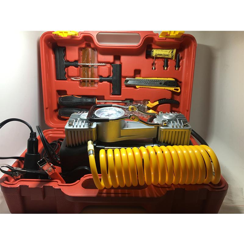 大功率双缸车载充气泵快充稳定打气泵轮胎气泵车载电器