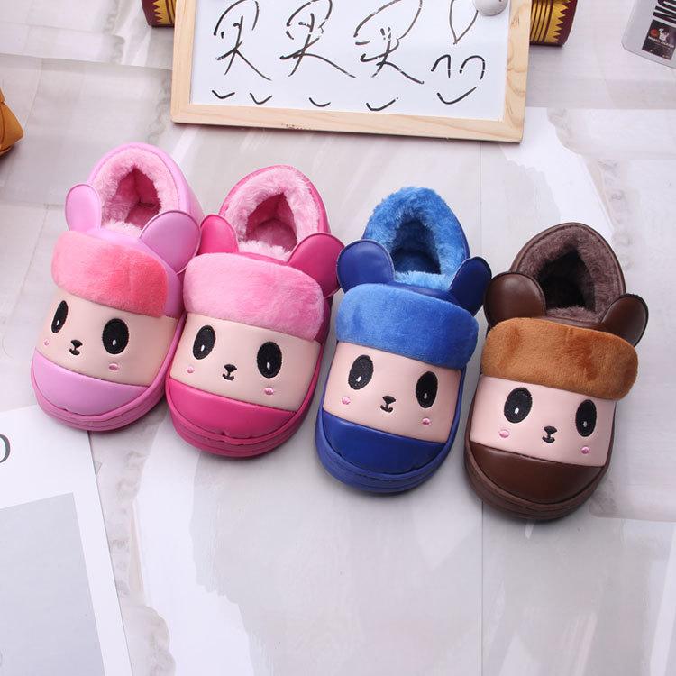 2020韵梦冬季新款儿童棉鞋1385家居小童保暖鞋厚底防滑卡通棉鞋冬天