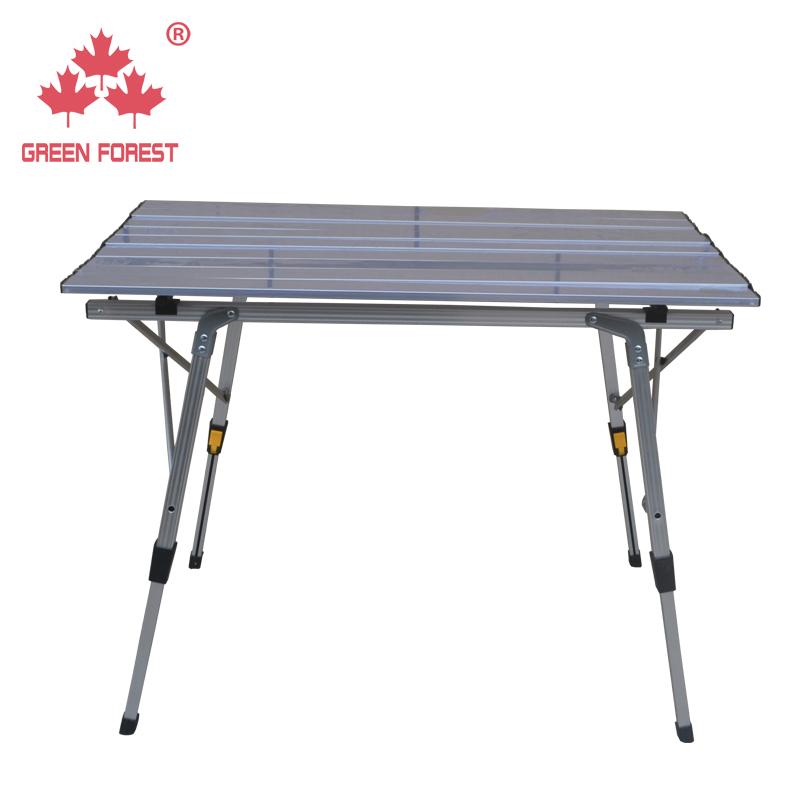户外铝合金可升降烧烤桌椅套装超轻便携式折叠桌露营野餐桌摆摊桌