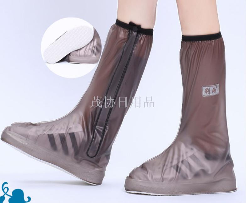 男女高筒鞋套加厚骑车装备防雨鞋套PVC雨鞋套
