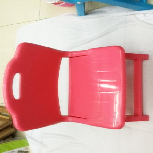 塑料靠背折叠凳 幼儿园童趣加厚折叠椅 承重100公斤20个装