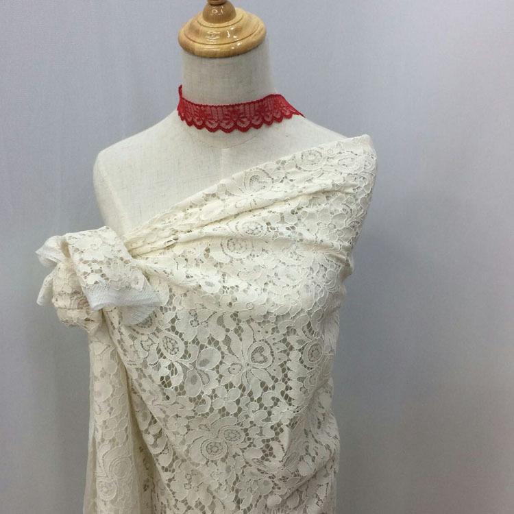 锦氨花朵花型 镂空时尚女装蕾丝面料 韩版女装辅料