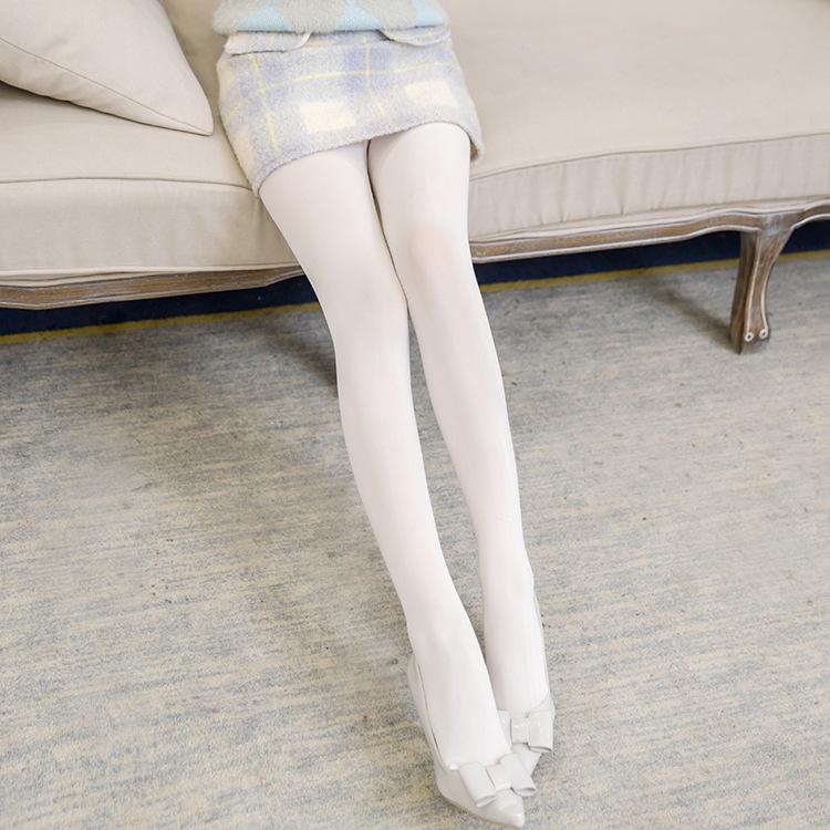 诗丰丝袜白色不透肉丝袜女连裤袜舞台白色春秋薄款连袜裤打底袜女