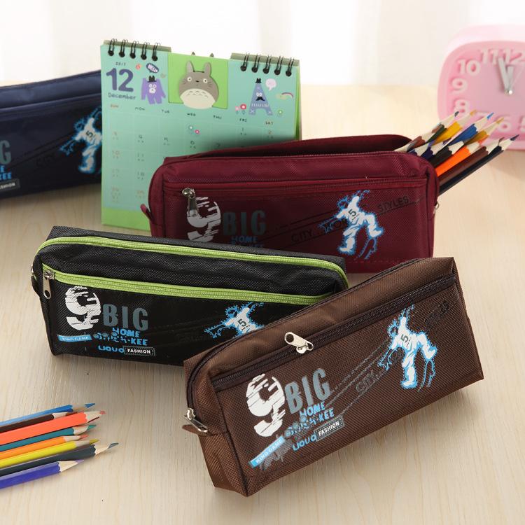 大容量运动款足球杯SPORT牛津布特价礼品笔袋定制赠送文具盒厂家