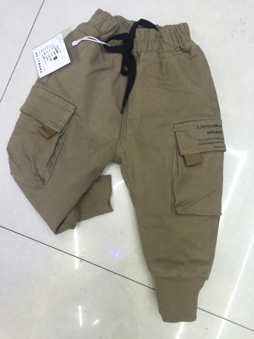 小童男棉裤雪花绒夹裤针织夹裤真超柔,时尚潮流,运动休闲夹层棉