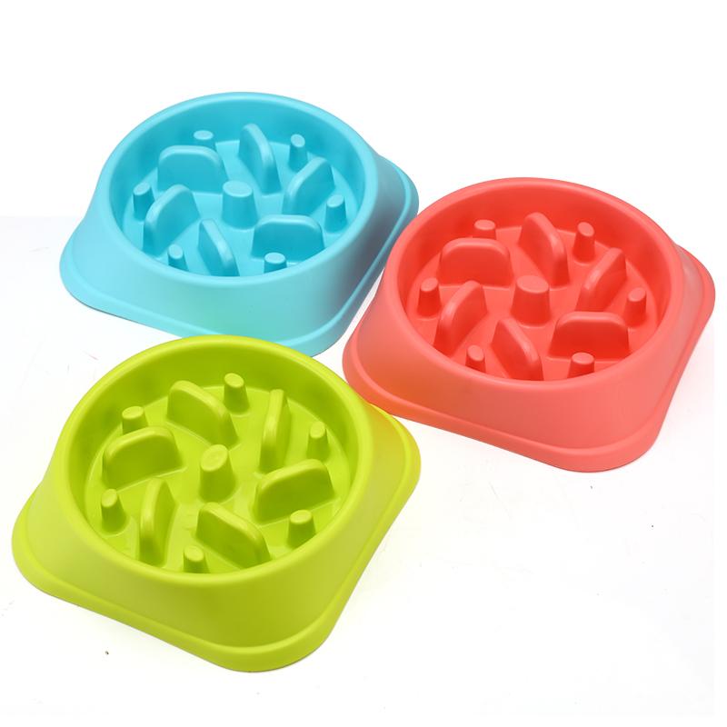 宠物碗单碗 塑料狗碗 慢食防噎碗 加厚材质狗用品