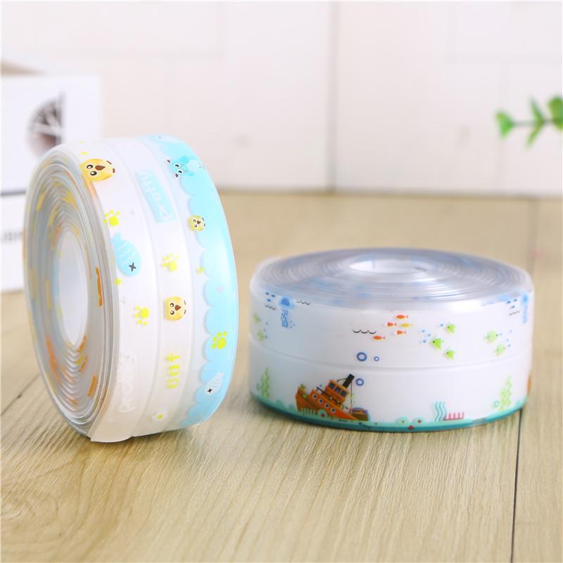 厨房水槽防水贴纸水池卫生间浴室台面挡水条防油防霉防潮美缝贴条