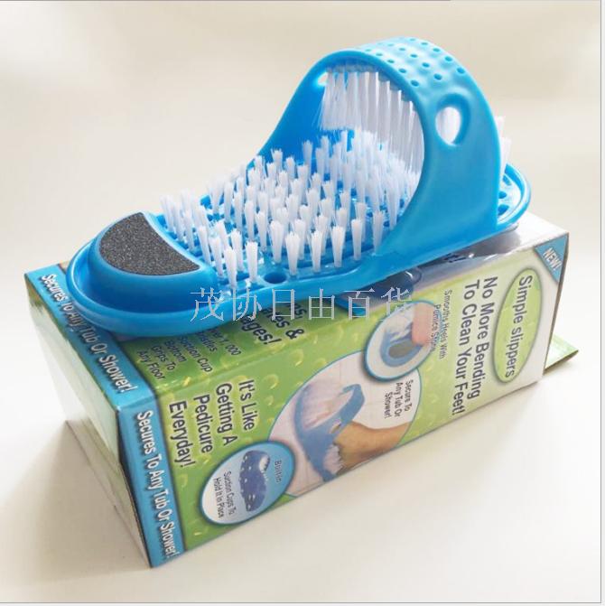 洗脚神器刷拖鞋刷子男女懒人浴室洗澡搓脚去死皮按摩吸盘拖鞋