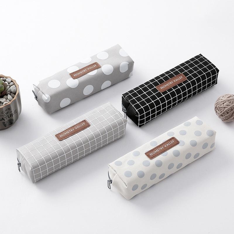 韩版时尚简约条纹笔袋小清新学生用铅笔袋文具袋办公用品