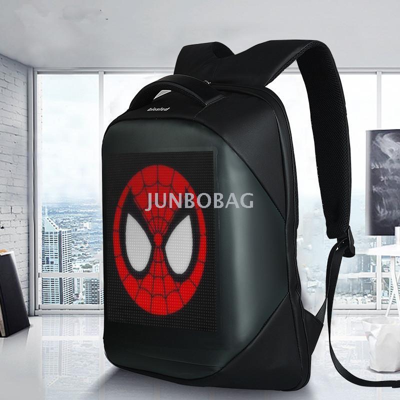 新款三代热销led显示屏广告营销利器双肩背包 发光多功能电脑背包