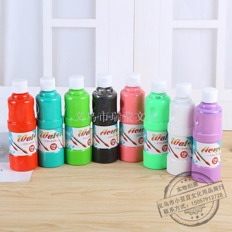 Vneeds工厂直销400ml瓶装水彩颜料儿童绘画diy涂鸦初学者画画套装