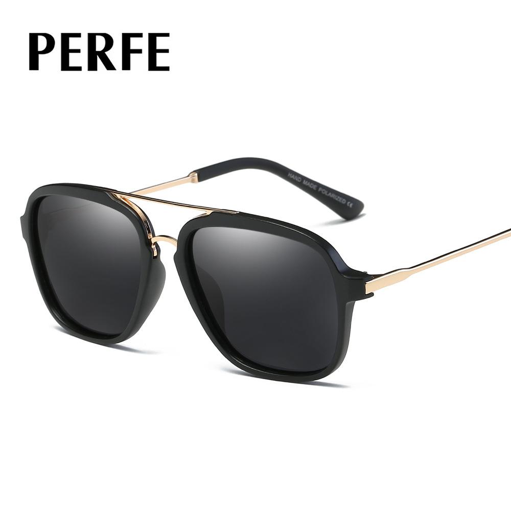 义乌好货  欧美时尚偏光镜 外贸爆款太阳眼镜 复古金属偏光镜