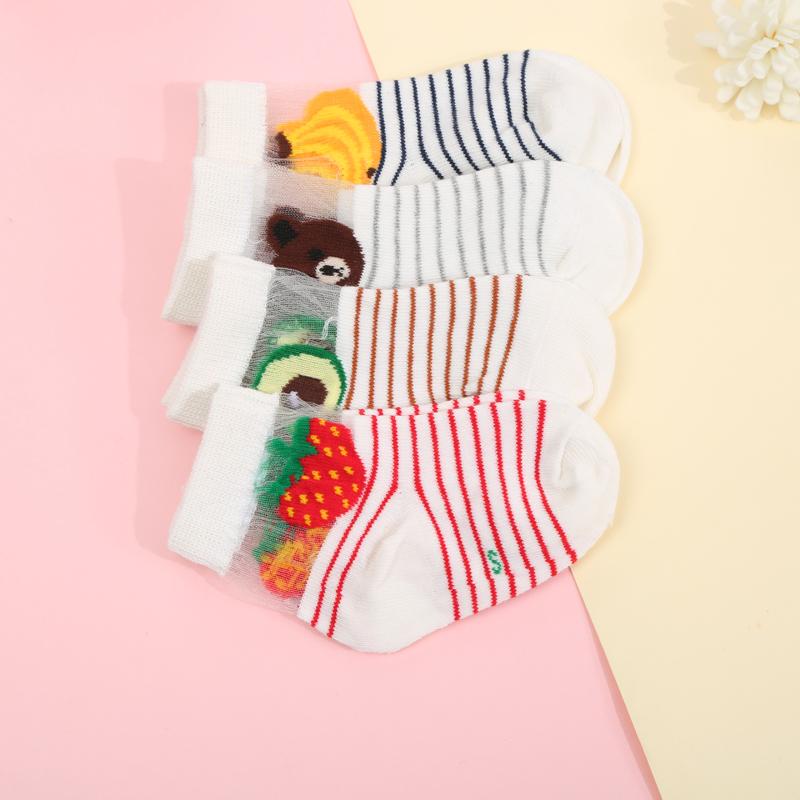 婴儿袜子夏季薄款新生儿镂空网面袜子 宝宝网眼松口袜 透气舒适